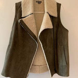 Vince Shearling and Suede Vest